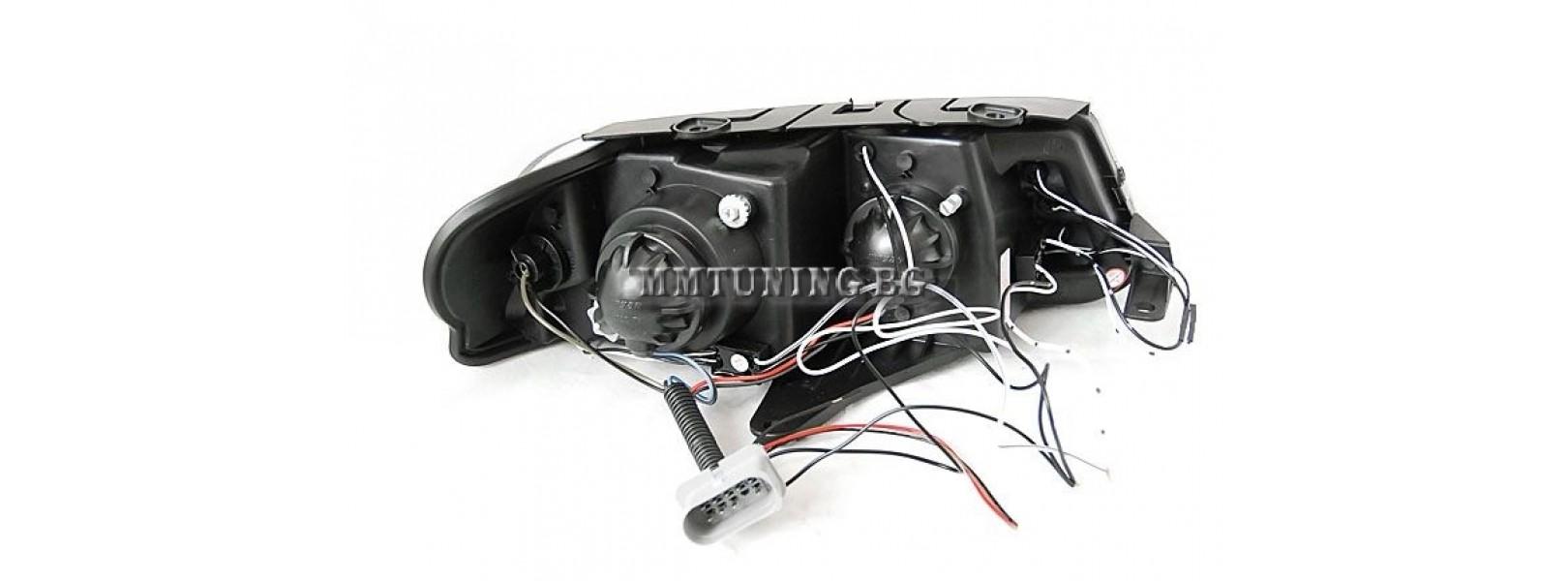 Кристални фарове Angel Eyes VW PASSAT B5.5 (01-05) - черни