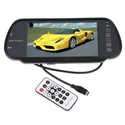 """Огледало с цветен 7"""" LCD дисплей с USB вход и Bluetooth"""