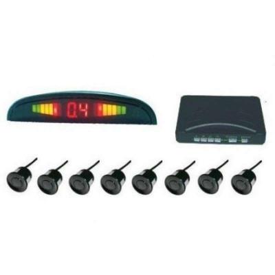 Парктроник с 8 сензора и LED дисплей - сребристи датчици