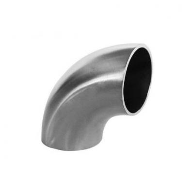 Тръба от неръждаема стомана - коляно 90°, 76мм, къса